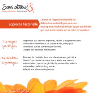 L'approche factorielle - Séverine Roussel Sophrologue Sans détouR