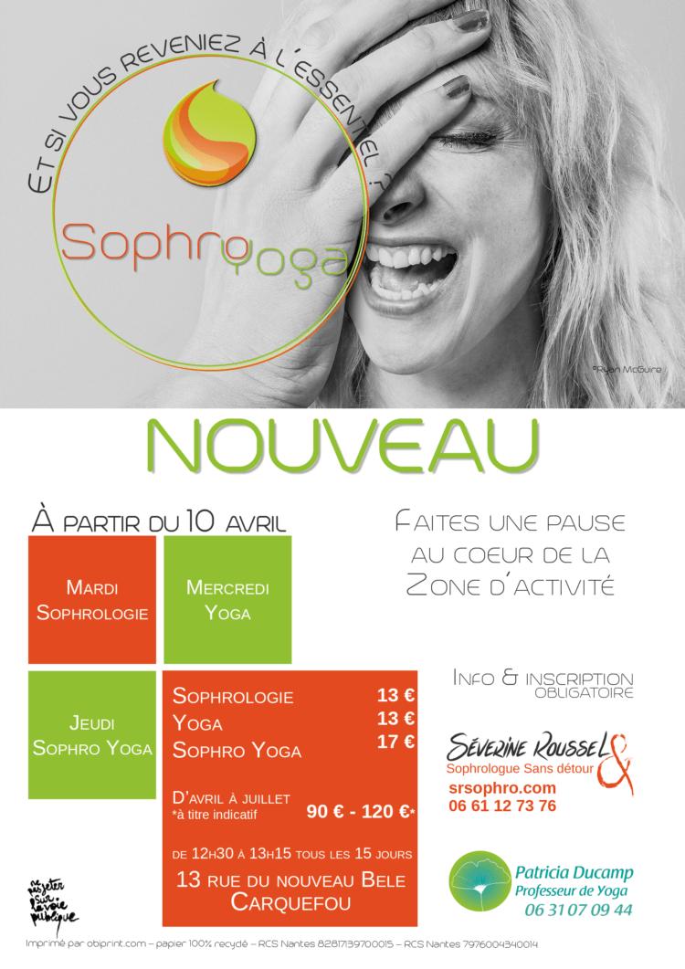 Séance de sophrologie, de yoga & de sophro-yoga à Carquefou